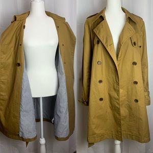 J Crew City trench coat jacket tan size 10 M